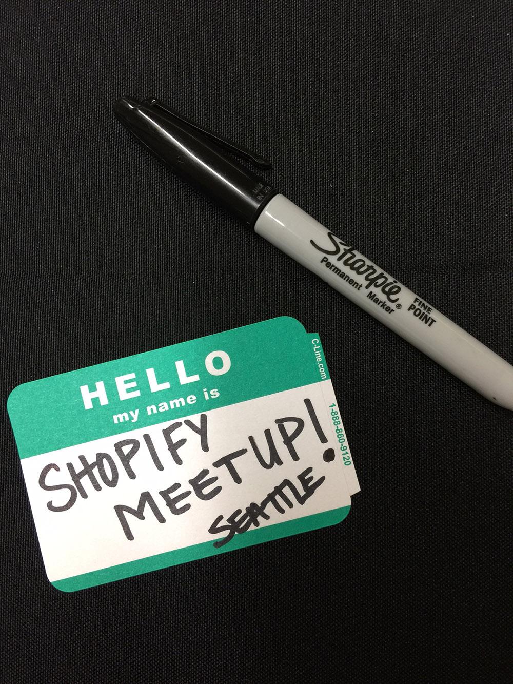 Shopify Seattle Meetup